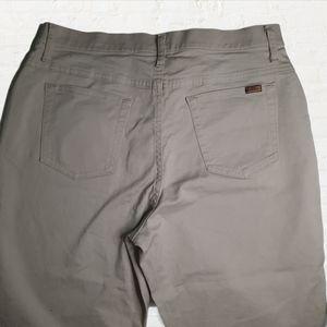 VF cropped embellished khaki jeans